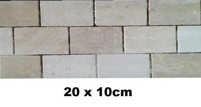 20x10 en pierre de Bourgogne brut de sciage