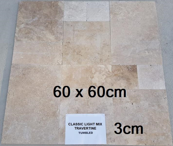 60x60x3cm travertin