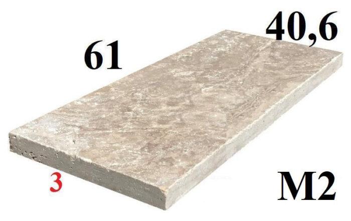 61x40,6 travertin