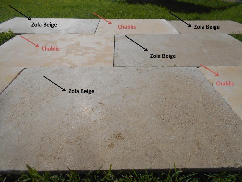 Amazone beige vibré dallage pierre