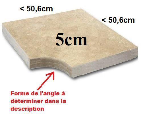 Angle margelle Travertin 5cm