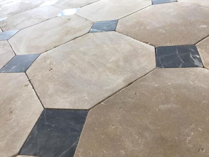 Dallage cabochon pierre naturelle