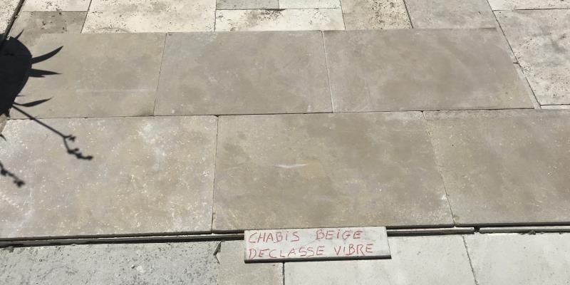 Dallage pierre Chablis déclassé