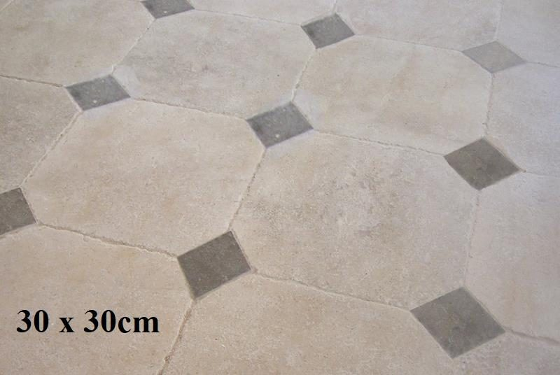 Dallage pierre avec cabochon