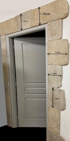 Encadrement pierre vieillie