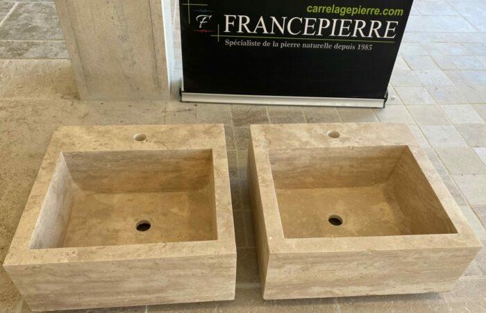Evier pierre TRAVERTIN Rennes