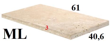 Travertin TOPLIGHT 61x40,6cm, épaisseur 3cm