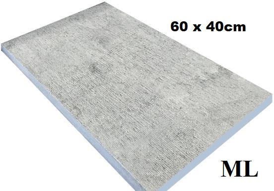 Margelle blue stone layé main 60x40cm 3cm