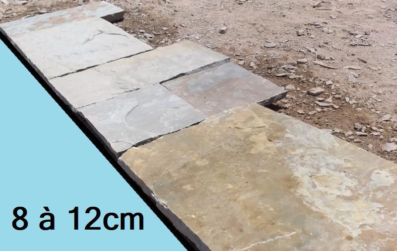 Margelle de bassin ancien en pierre Inde