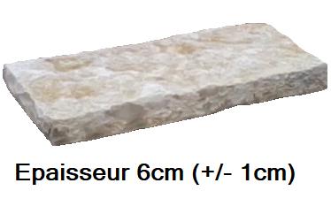 Margelle ou dalle épaisse en pierre clivé naturel