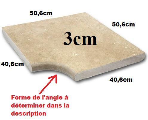 Angle Margelle travertin