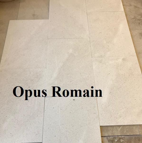 Opus Romain en pierre claire Many Doré
