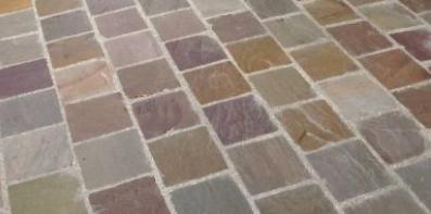 Pavé multicolor clivé 15x15x6cm
