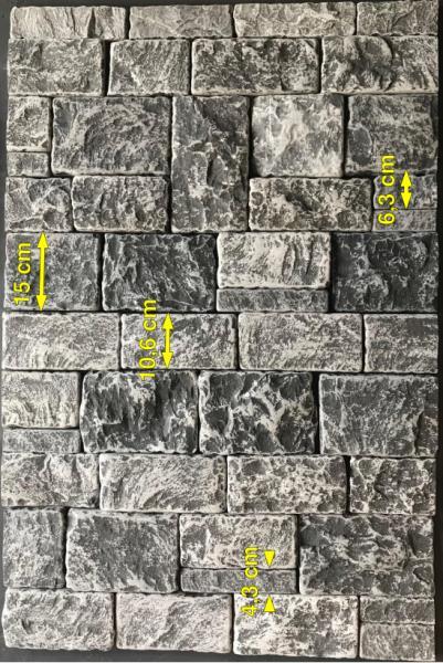 Parement mural noir pierre naturelle opus romain