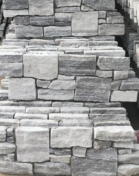 Parement pierre gris clair