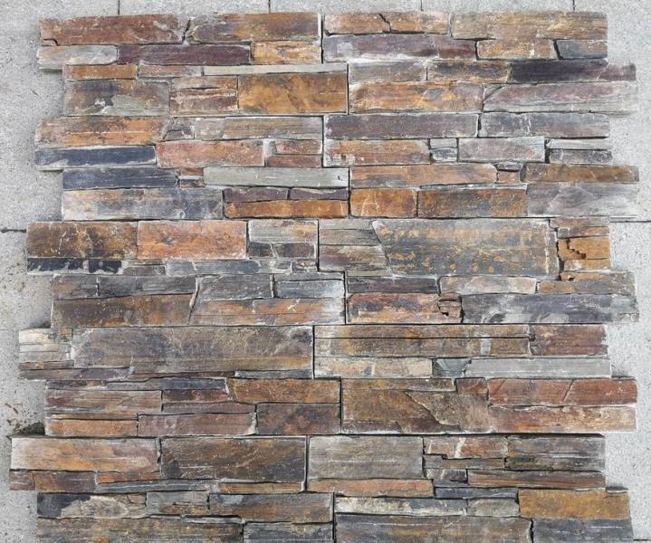 Parement pierre multicolor quartzite
