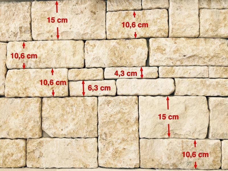 Parement pierre romane beige
