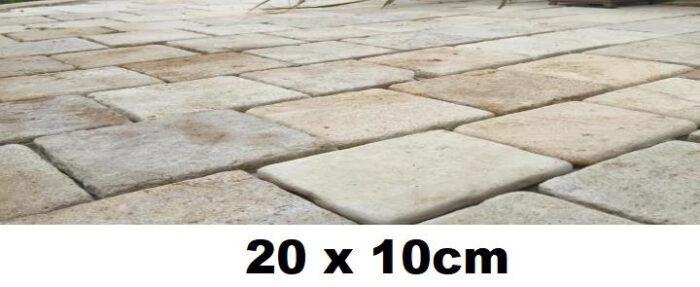 Pavé 20x10 en pierre de Bourgogne