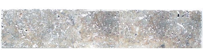 Plinthe travertin gris silver