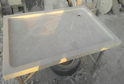 Receveur de douche bac en Travertin pierre naturelle
