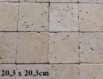 Travertin 20x20cm