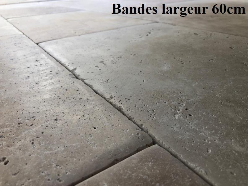 Travertin bombé patiné dalle ancienne