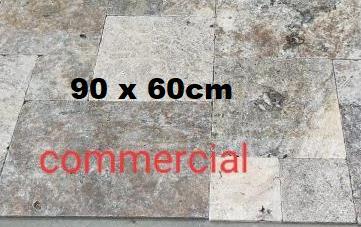 Travertin commercial gris