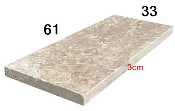 Travertin épaisseur 3cm