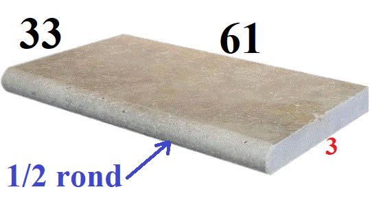 Travertin margelle 33