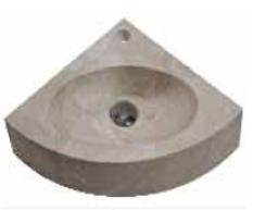 Vasque d'angle en pierre naturelle