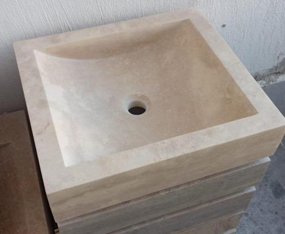 Vasque en Travertin rectangulaire