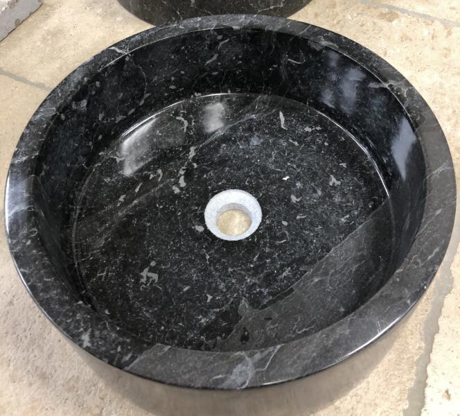 Vasque marbre noir poli
