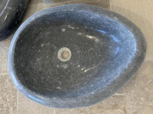 Vasque massive pierre noire