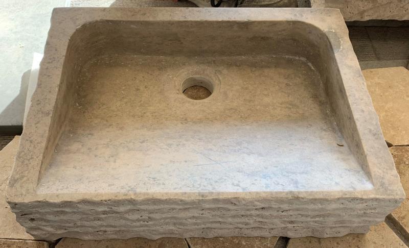 Vasque petit lunel travertin pierre