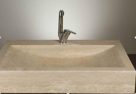 Vasque rectangulaire travertin