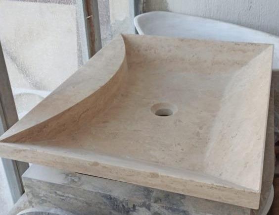 Vasque travertin rectangulaire