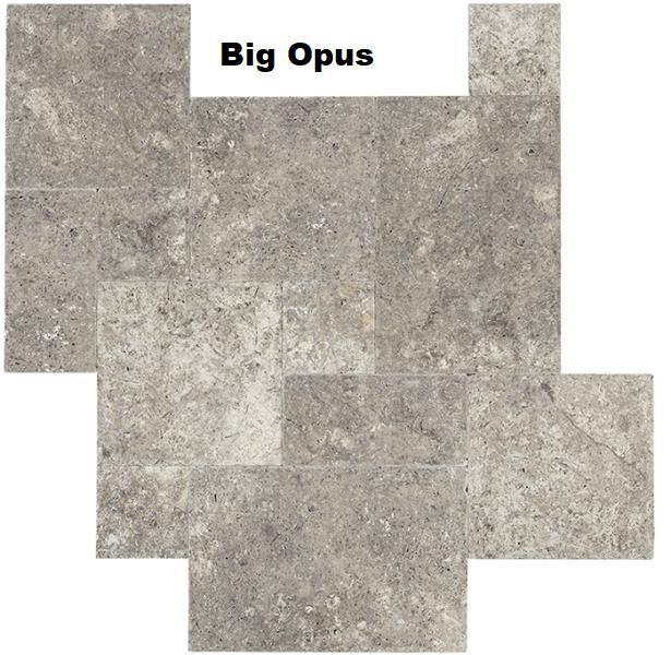 big opus Travertin gris silver