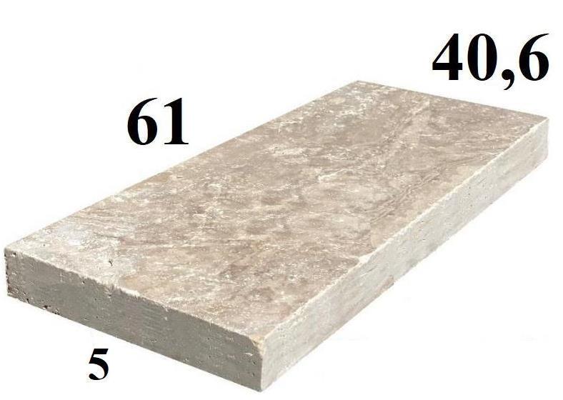 dalle travertin 60x40cm épaisseur 5cm