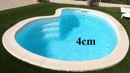 margelle pierre en haricot piscine