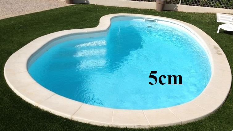 margelle pierre piscine haricot 5cm