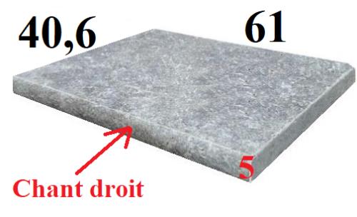margelle travertin gris silver 5cm