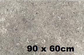 travertin gris silver 90x60