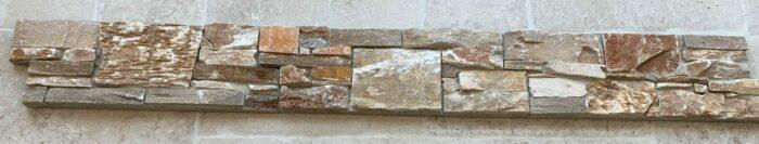 Parement pierre Quartzite doré