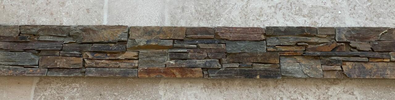 Parement pierre Quartzite foncé