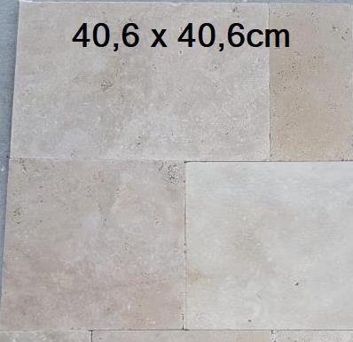 40,6x40,6cm en TRAVERTIN Light