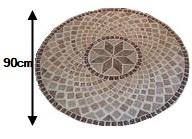 Rosace Travertin 90cm de diamètre