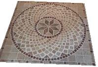 Rosace carrée en Travertin pierre naturelle